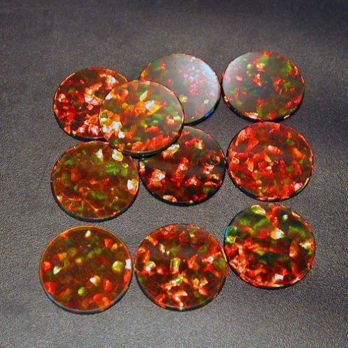 Profound Black 10mm Round Coin opals by Elements Glass