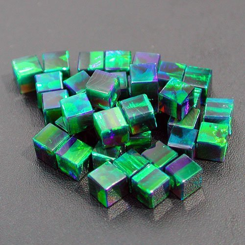 Profound Green 3mm Cubes by Elements Glass