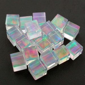 Profound Rainbow 4mm Cubes by Elements Glass