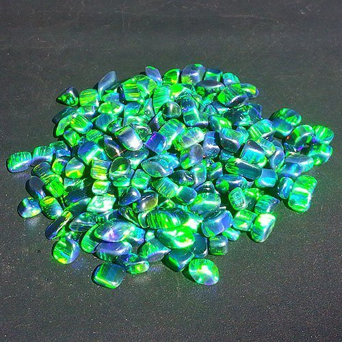 Profound Green Tumbled Opal - AAA Quality by Elements Glass