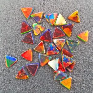 Profound Black 3mm Triangle Coin opals by Elements Glass
