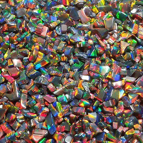 Profound Black Tumbled Opal - Mini by Elements Glass
