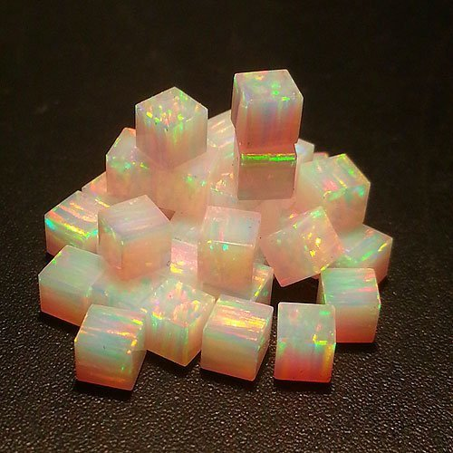 Profound Pink 3mm Cubes by Elements Glass