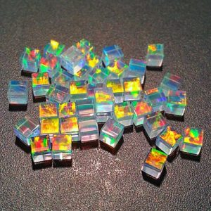 Profound Rainbow 3mm Cubes by Elements Glass
